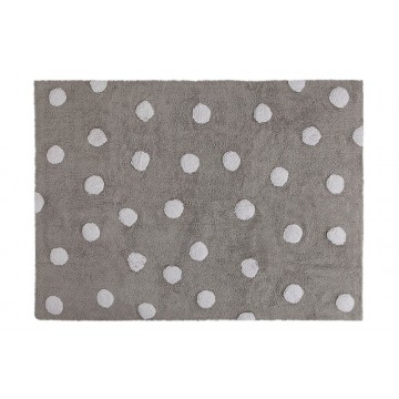 POLKA DOTS GREY-WHITE